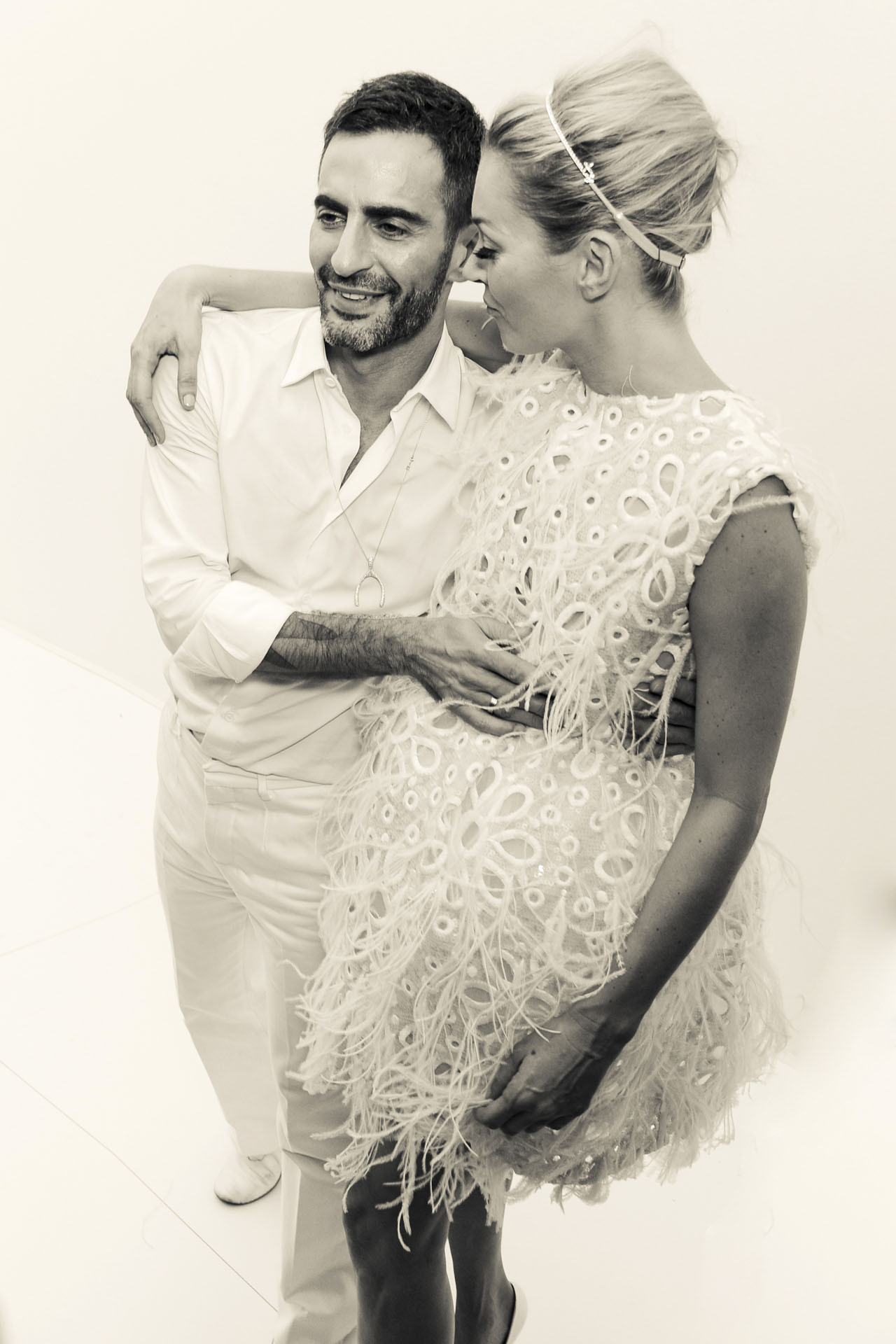mirnah:  A lovely backstage photo just after the Louis Vuitton Spring 2012 show of two old mates–Marc Jacobs & Kate Moss.