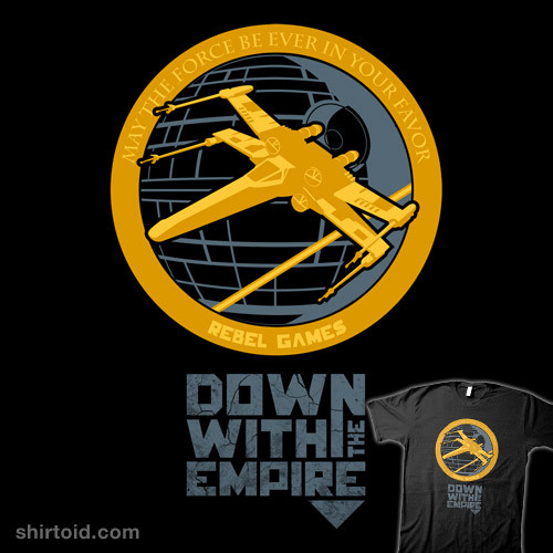 shirtoid:  Down With The Empire available at Droid Loot  Yes!