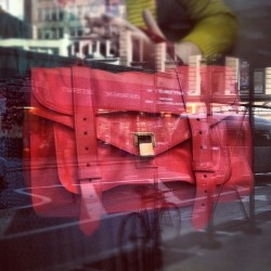 luckymag:  Reflections of @proenzaschouler… (Taken with Instagram at Opening Ceremony)