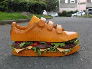 Food fashion. forgottenspecies:  I'm so hungry I could eat my shoe.