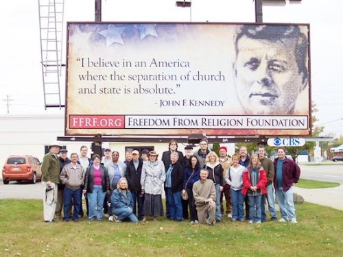 religiousragings:  I believe in an America where the separation of church and state is absolute - JFK