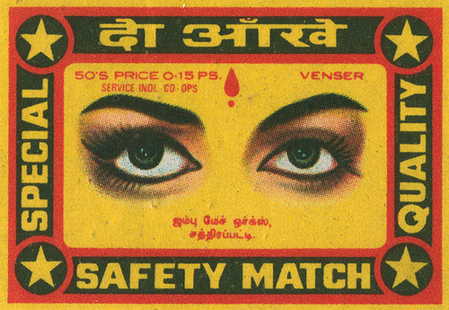 marcedith:  …..Indian matchbox label via Flickr/ Shailesh Chavda…..