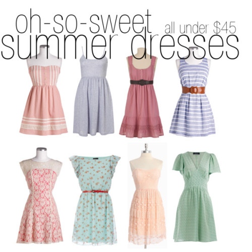 (via Lovely At Your Side: Oh-So-Sweet Summer Dresses: All Under $45!)