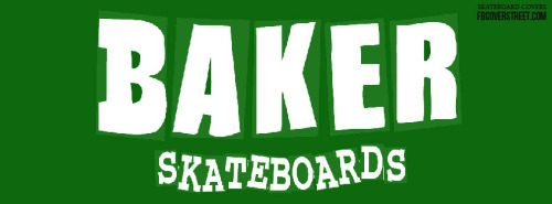 Baker Skateboards Green Logo Facebook Cover