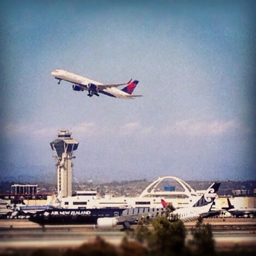 Great view of #LAX from here.  (Taken with instagram)