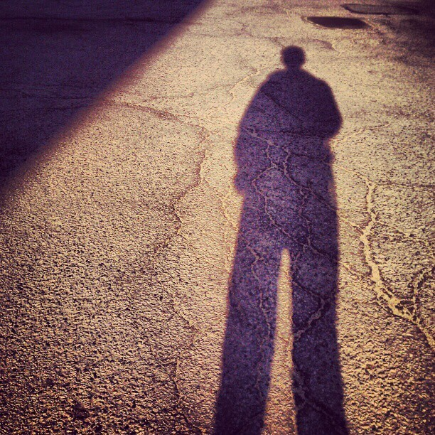 Walking with my shadow (Taken with instagram)