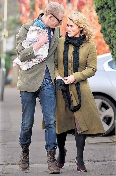 congrats on the new addition to your family - Billie Piper, Laurence Fox and of course little Winston who's now a big brother!!!