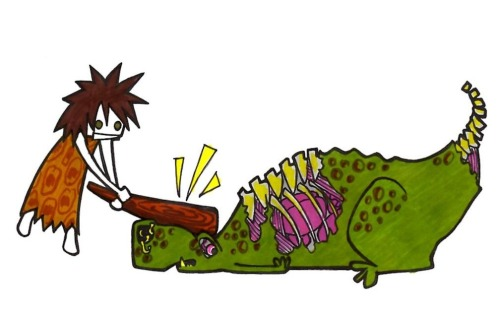 How to fight zombie dinos by Kate Stewart http://klouart.deviantart.com/
