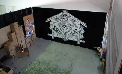 An upstairs view of the Afends mural i did.