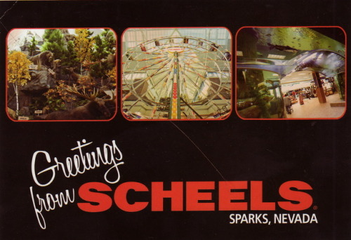 oh yes, a magical Scheels postcard | sent to Tahoe City, California, March 2012