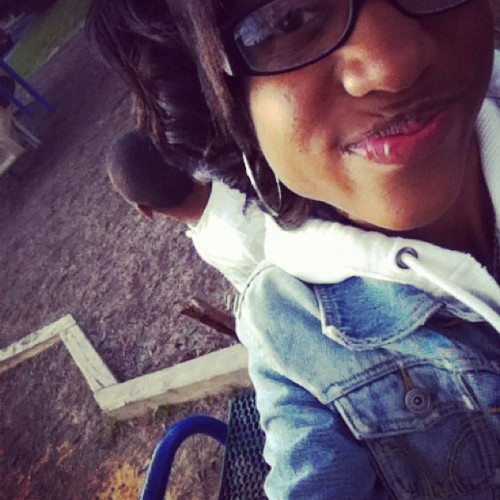 me chilling outside (:  (Taken with instagram)