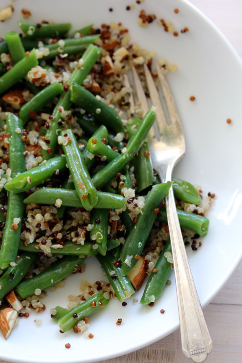 (via Greens Beans & Tricolor Quinoa | Recipe | With Style & Grace | With Style & Grace)