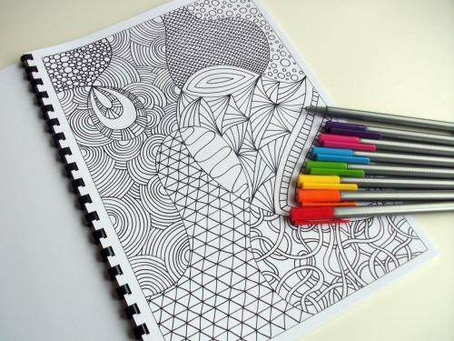Here is one of my hand drawn printable Zendoodle coloring pages- I have such fun creating these! Crying out for color :-)