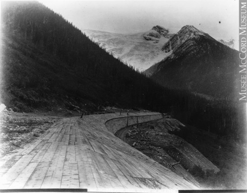 PhotographGlacier Snow Shed, Summit of Selkirk Mountains, BC, about 1887A. B. ThomAbout 1887, 19th centurySilver salts on paper mounted on card - Albumen process