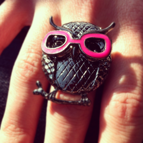 New Hipster Owl ring. Love.