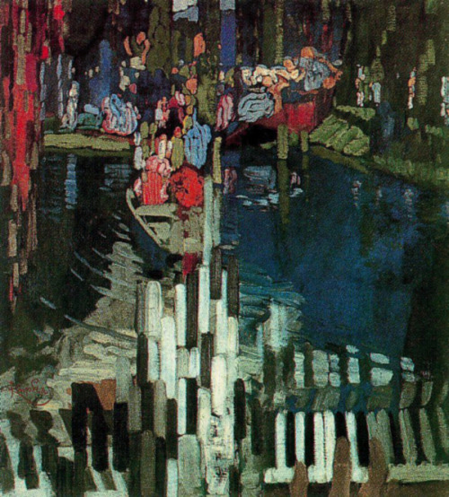 Frantisek Kupka, Piano Keys Lake, 1905