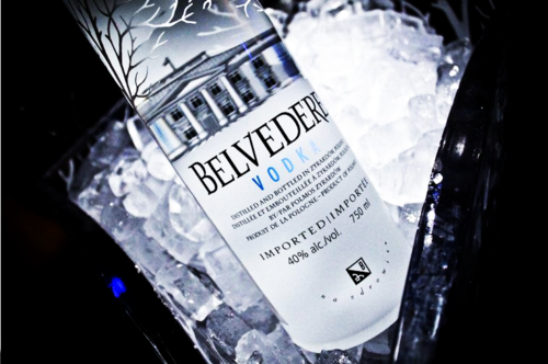 dailyluxury:  Fresh bottle of Belvedere.