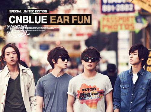 CNBLUE EAR FUN LIMITED EDITION 140 pages pics 20 min DVD shoot in US 4 kinds of supplements for each members Ear Fun Special Limited Edition Preorder starts on Apr 6 Release Date: April 10 info cr @cebununa
