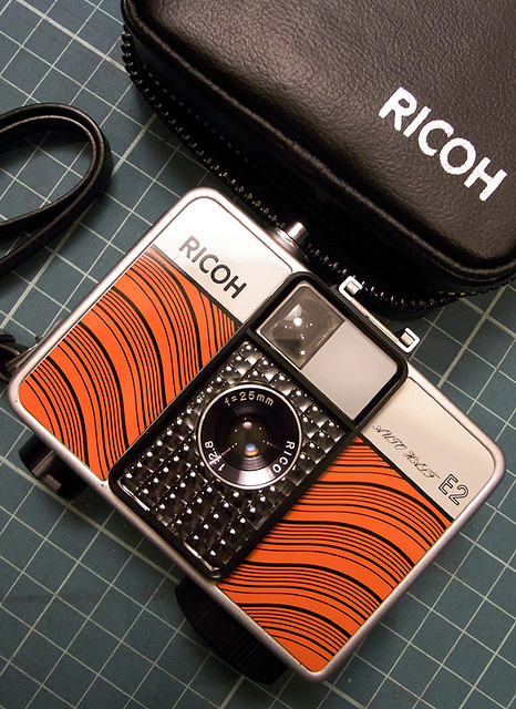 camera-khayes:   New Ricoh Auto Half 'Red Line'. by filmwasters on Flickr.