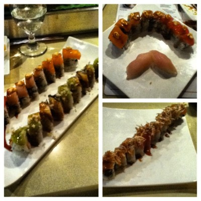 Livin in the good life, eating the good shit! #picstitch #sushi #fish #tuna #love #food #yummy #reno #rim #allyoucaneat #jj_forum #popular #popularpage #igdaily #igaddict #ignation #instahub #instagrub #instafood #instagood #instadaily #instaaddict #lovinglife  (Taken with Instagram at Rim Sushi)