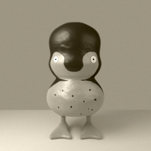 Vintage Penguin test. Done in blender + photoshop