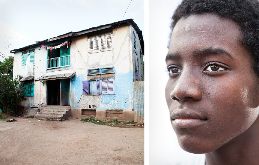 Trenchtown residents and the architecture.  By Sam Diephuis