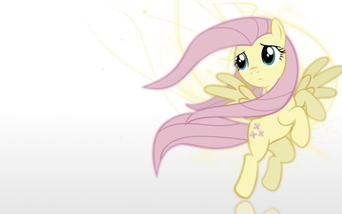 I'd like to make myself believe…-Wallpaper- by ~DrModnar Fluttershy week!