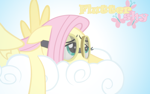 Fluttershy on a Cloud Wallpaper by =demonbarber92 Fluttershy week!