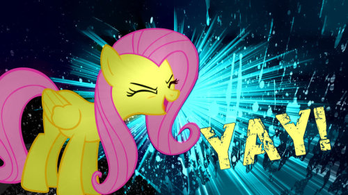 Fluttershy Yay Wallpaper (Recolored) by ~Tarindel Yup, it's Fluttershy time! A week of our favorite 'fraidy cat!