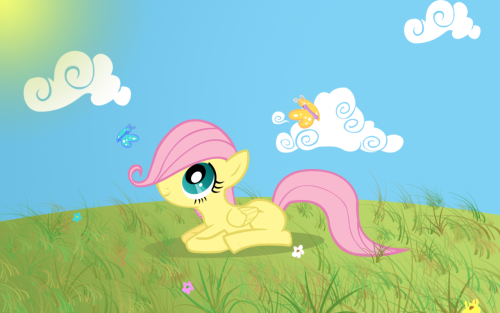 Fillyshy Lying Down Wallpaper by ~pikn2 Fluttershy week!