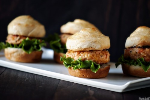 Asian Salmon Sliders