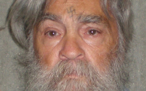 "Here's what Charles Manson looks like these days, guys He's up for parole; 11 previous parole bids have failed: Manson, known for leading the cult-like Manson Family (responsible for the murder of actress Sharon Tate and numerous others in the late 1960s), has routinely gone up for parole, only to be rejected. Why's that? Well, as one judge put it in 2007, he ""continues to pose an unreasonable danger to others and may still bring harm to anyone he would come in contact with."" He has not taken any psychological tests since 2007, but as Manson is now 77 years old and over four decades away from the crimes that made him infamous, does he continue to pose a threat to society? source Follow ShortFormBlog"