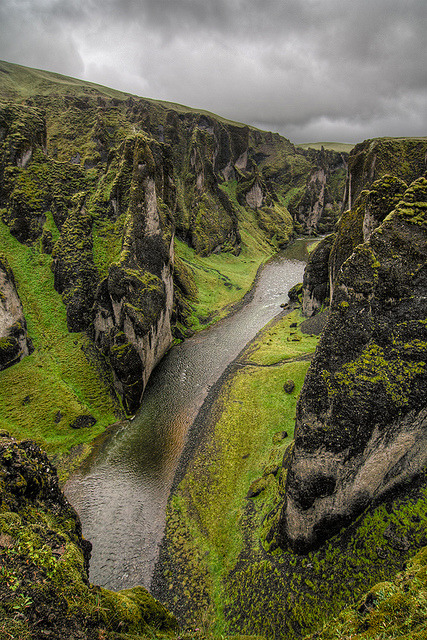 sameristumbling:  Fjarðárgljúfur canyon, Iceland by pas le matin on Flickr.