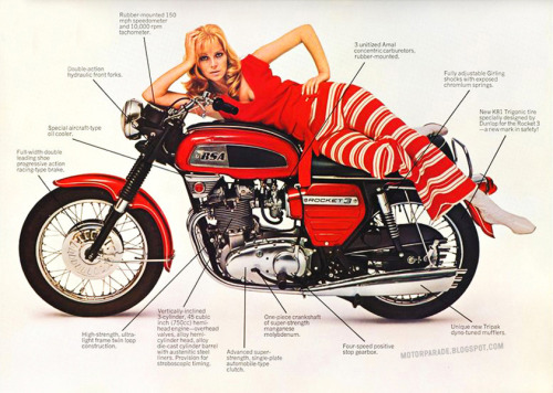 (via MotorParade: WHITE STRIPES) BSA, UK, 70s