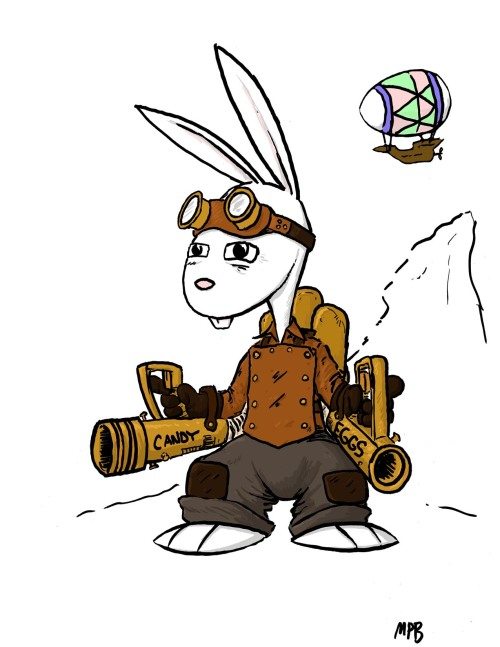 the steampunk easter bunny