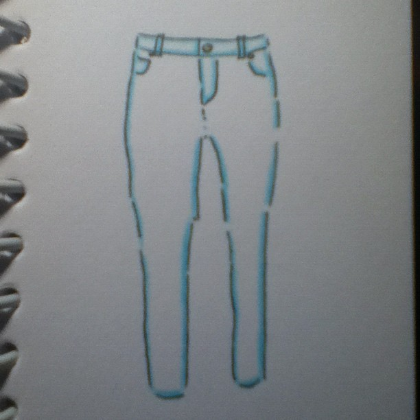 Pastel coloured skinny jeans