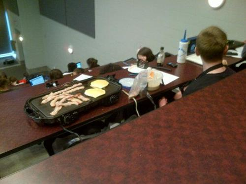 Look at this guy. IN CLASS.  like a boss.
