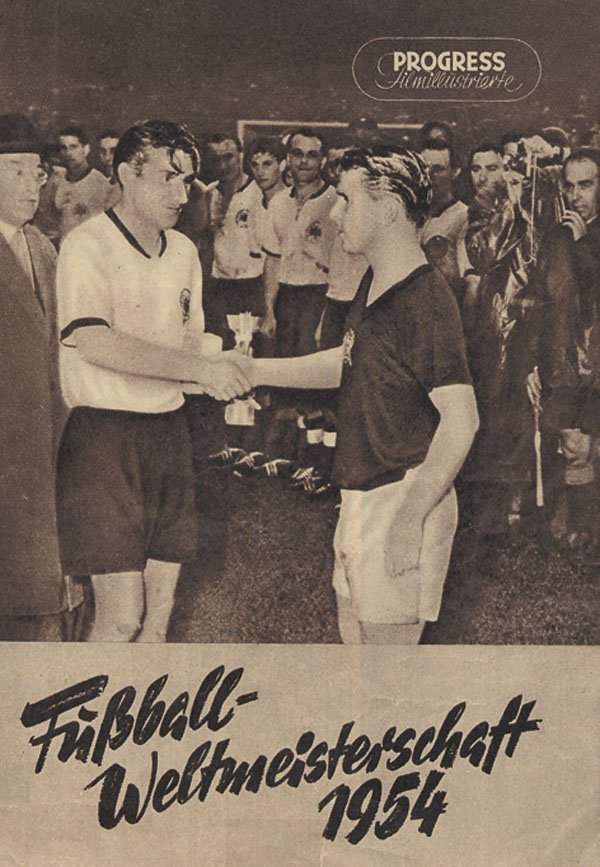 Fußball - Weltmeisterschaft 1954, a film on the 1954 World Cup. Official programme cover.