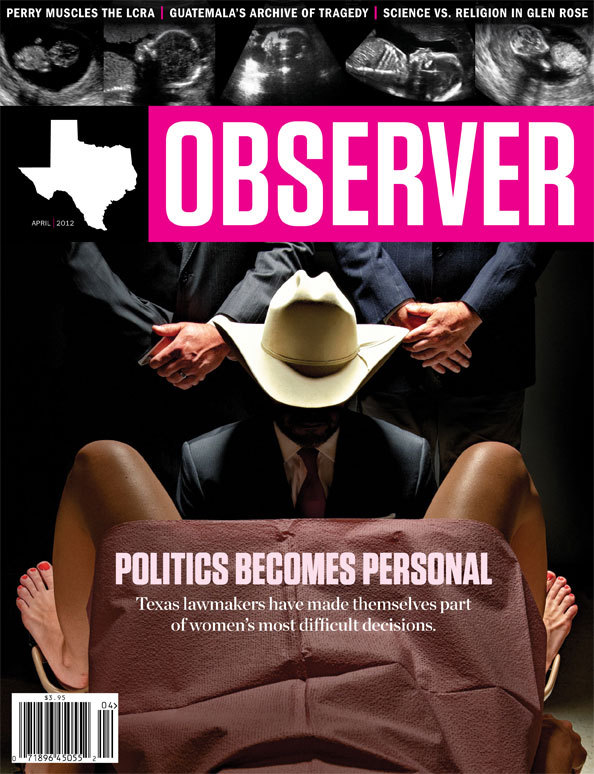 kileyrae:  The Texas Observer's April cover.  That hat doesn't look sterile.