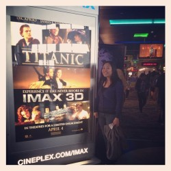 If you're a fan, you just have to do this. #titanicmovie #IMAX #3D 😊😊😊😊 (Taken with instagram)
