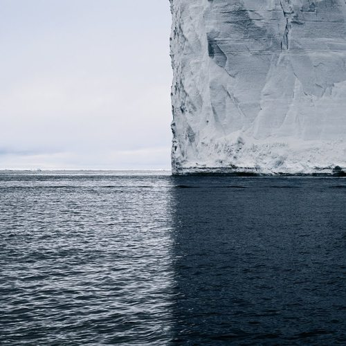 asaya:  Greenland Iceberg, an awarded photograph in a series of near-sculptural photographs of icebergs shot by David Burdeny