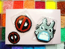 8bit keychain Totoro and Deadpool.