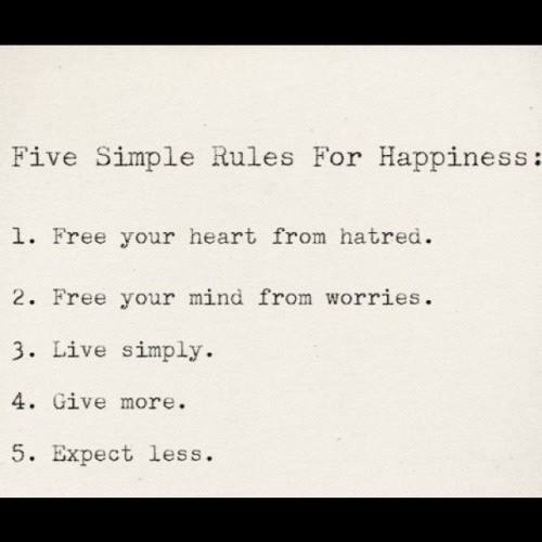 sueswink:  So simple… (Taken with instagram)  Tips for happiness.