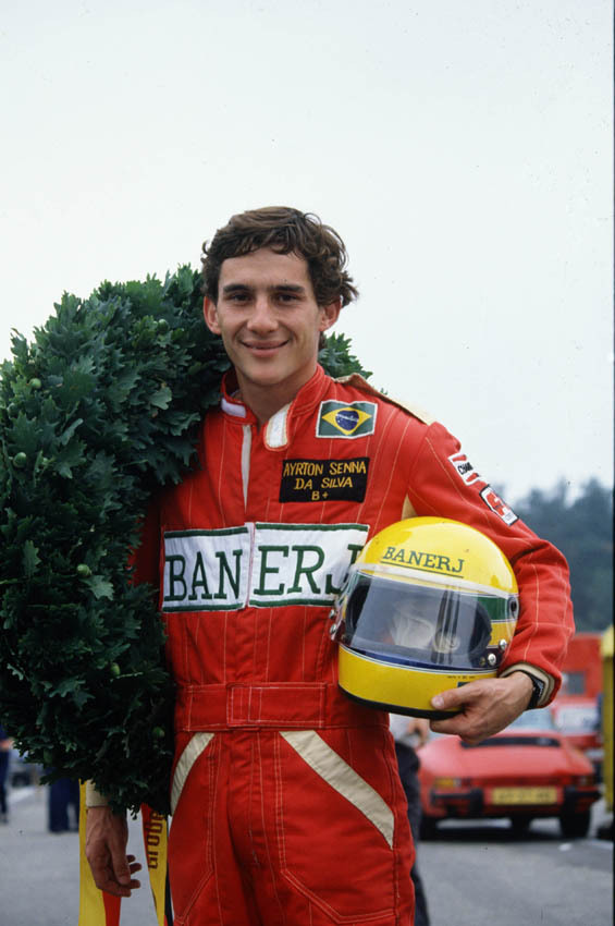 leucocrystal:  Ayrton after winning the English Formula 3 Championship, 1983.