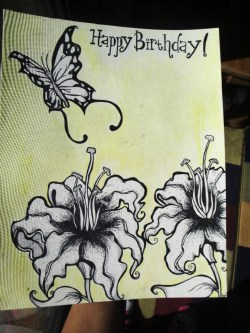 Happy Birthday card for my boyfriends Mom!