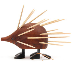Toothpick server in the shape of a porcupine.Design by Laurid Lønbor, 1960's, Denmark.  Found here.