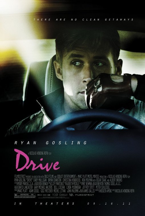 sonofafilmgeek's Top 20 Films of all Time Drive (2011) Dir. Nicholas Winding Refn  There's a hundred-thousand streets in this city. You don't need to know the route. You give me a time and a place, I give you a five minute window. Anything happens in that five minutes and I'm yours. No matter what. Anything happens a minute either side of that and you're on your own. Do you understand?   The best film of 2011, hands down. Ryan Gosling gives such an amazing, understated performance here that he comes across as such an enigma, the audience isn't sure what he's going to do next. As well as Gosling's amazing performance, Nicholas Winding Refn's is sublime here and he brings to life some the most breathtaking scenes in recent history, the car chase after the botched heist and the elevator scene are both stunning. The cast is rounded out wonderfully by Carey Mulligan, Albert Brooks, Bryan Cranston and Ron Perlman and are accompanied by an amazing soundtrack.
