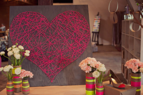 Loving this DIY string heart!