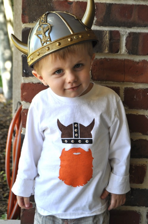 DIY Viking Tee Shirt Using Freezer Paper Stencils. I love these graphics! Tutorial from I am Momma Hear Me Roar here.