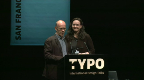 "gdsu:  Tina Roth Eisenberg- Typo San Francisco Yesterday I caught the last 30 mins of Tina's talk which was streamed live on typotalks.com. I didn't know who she was at first but after seeing her sideshow I recognised all of her work. Tina is the brain behind swissmiss, TeuxDeux, Tattly- I recommend Teuxdeux for students for organisation- set it as your home page She is a ""firm believer in white space and clean, elegant design"" because of her Swiss routes. The theme of the event was 'Connect' and she explained how working from her bedroom (which was also clean and white), wasn't working for her and being surrounded by like-minded people was much better. Which is why she manages Studiomates, a collaborative fun space in a cool place called DUMBO. She also organises a monthly lecture/breakfast series called CreativeMornings. Her advice: Find What You LoveDon't stop until you find it. You'll know when you do. Don't Be a ComplainerInstead, make things better. Trust Your IntuitionYour gut is always right. If an Opportunity Scares You, Take itBeing scared means you'll learn and grow. Find Like Minded PeopleMake sure they're a respectful and good bunch CollaborateOnly good will come of it. Ignore HatersThey deserve none of your time Inspire Others At the end, type icon Erik Spiekermann quizzed her on her chosen fonts for the presentation. He doesn't read anything before he knows the typeface it's set in. I hope they put this online so I can see the first half. But I did find this similar one. Thank you to Theo Inglis for tweeting the link yesterday  Good career and life tips."
